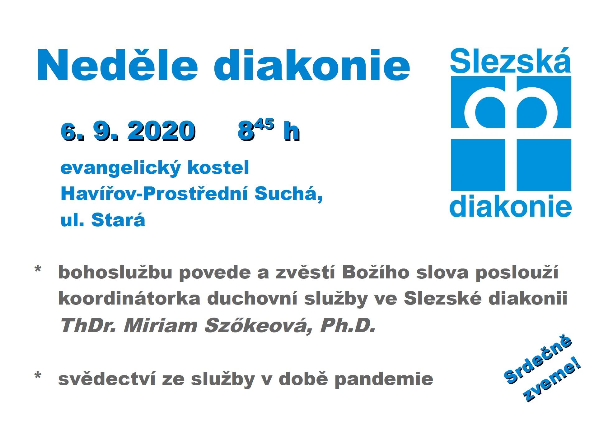 Bohoslužba věnována Slezské diakonii