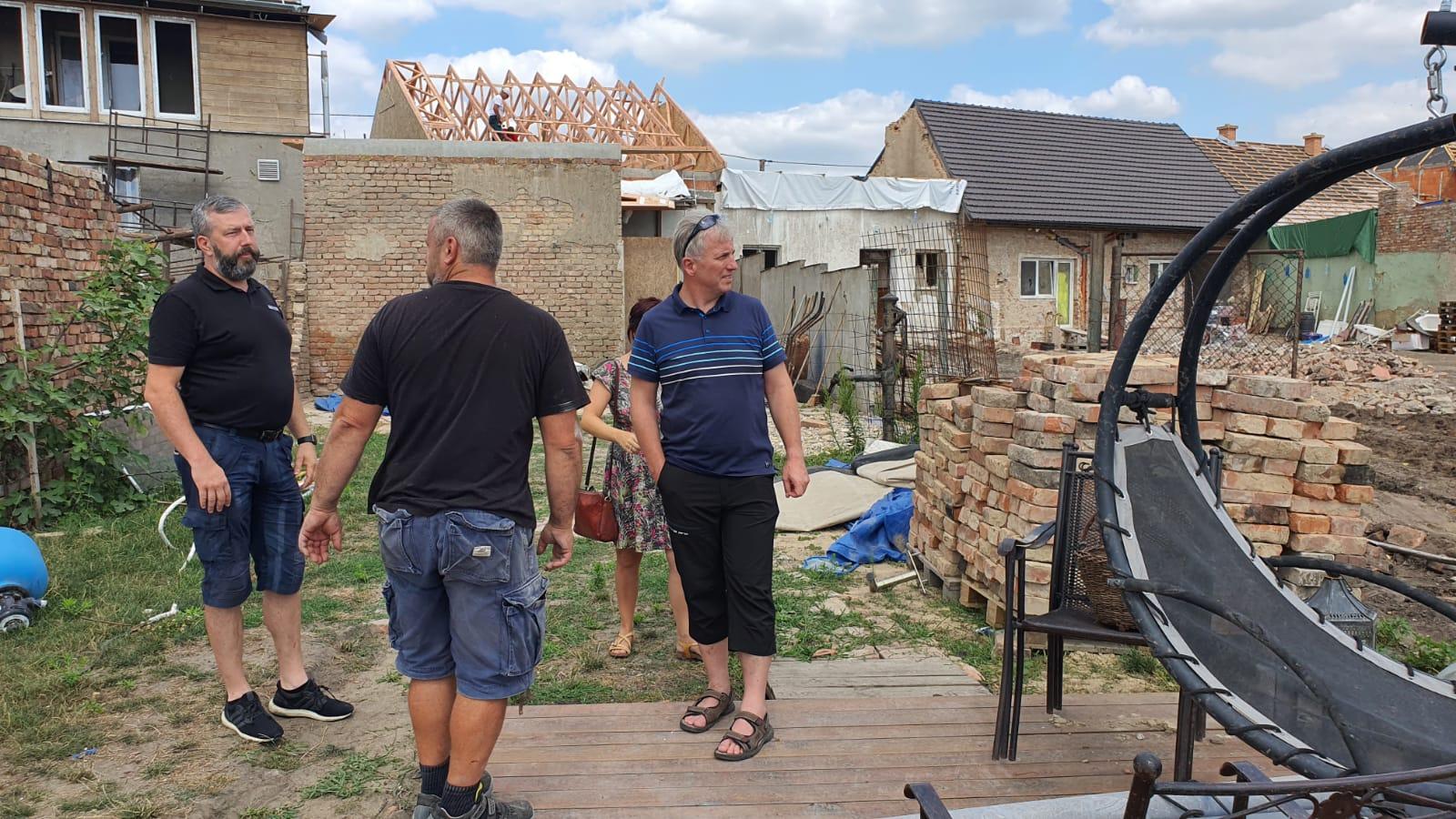 Pomoc SCEAV Moravě zasažené tornádem