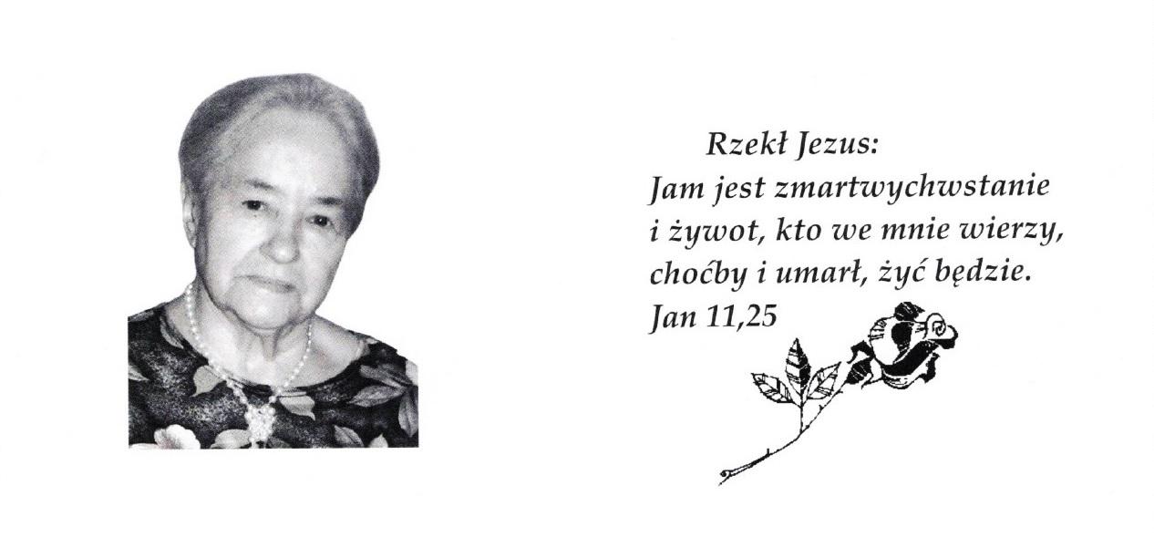 Zmarła pani pastorowa Wanda Krzywoń